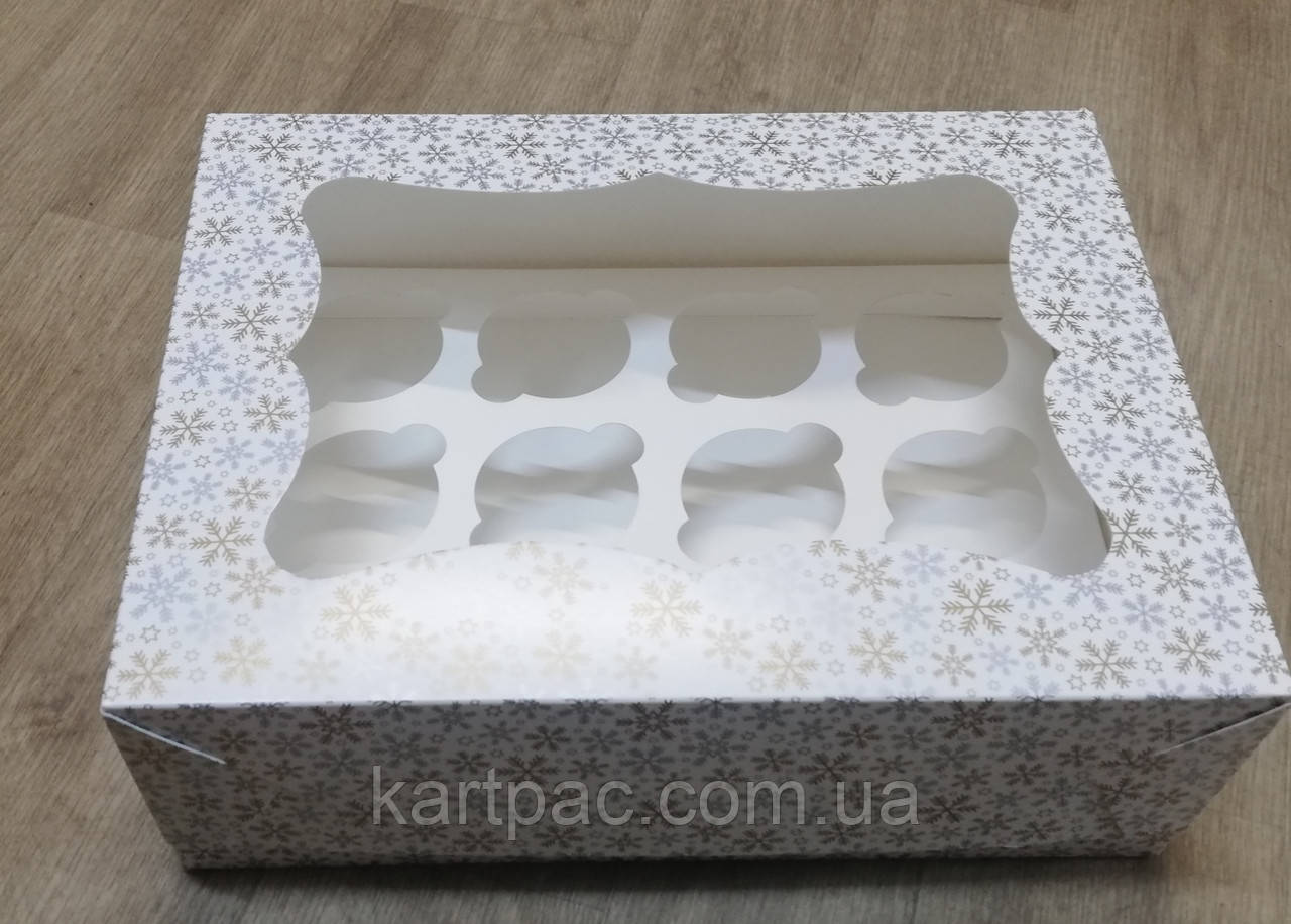 Коробка під мафіни картонна (на 12 штук) 330х255х110