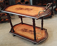 Столик-бар деревянный прямоугольный