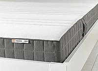 IKEA MORGEDAL Латексный матрас средней твердости, темно-серый, 140x200 см (402.724.09)