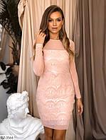 Модное гипюровое платье норма арт 360