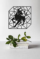 "Картина из дерева ""Geometric Bull"""