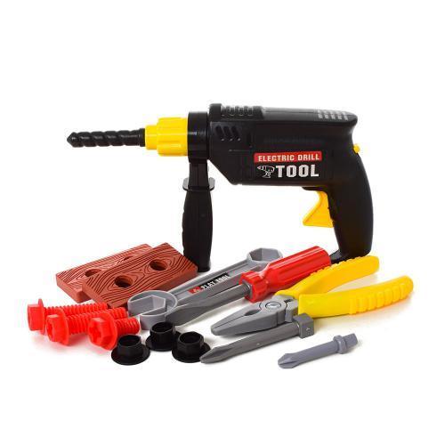 Игрушечный набор инструментов дрель плоскогубцы ключ болты TP371