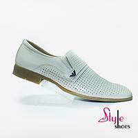 Мужские туфли с перфорированным верхом