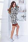 Женское зимнее осенне вязанное платье туника  серое бежевое 42--46, фото 5