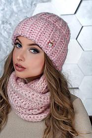 Комплект (шапка и снуд-хомут) Flirt Манго One Size розовая пудра
