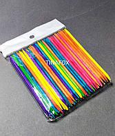 Апельсиновые палочки для маникюра цветные 11 см 100 шт