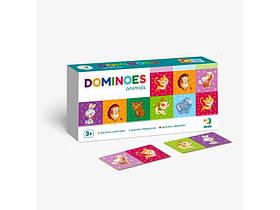 """Настольная Обучающая Игра Домино DoDo  """"Животные"""" 28 карточек  (300248)"""