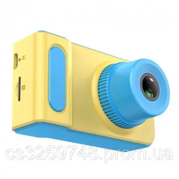 "Дитяча цифрова камера SUNROZ Smart Kids Camera фотоапарат 720P 2"" Жовто-Блакитний (2019)"