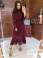 Платье - двойка из сетки сверху и рубашечным верхом на запах 66PL399Q