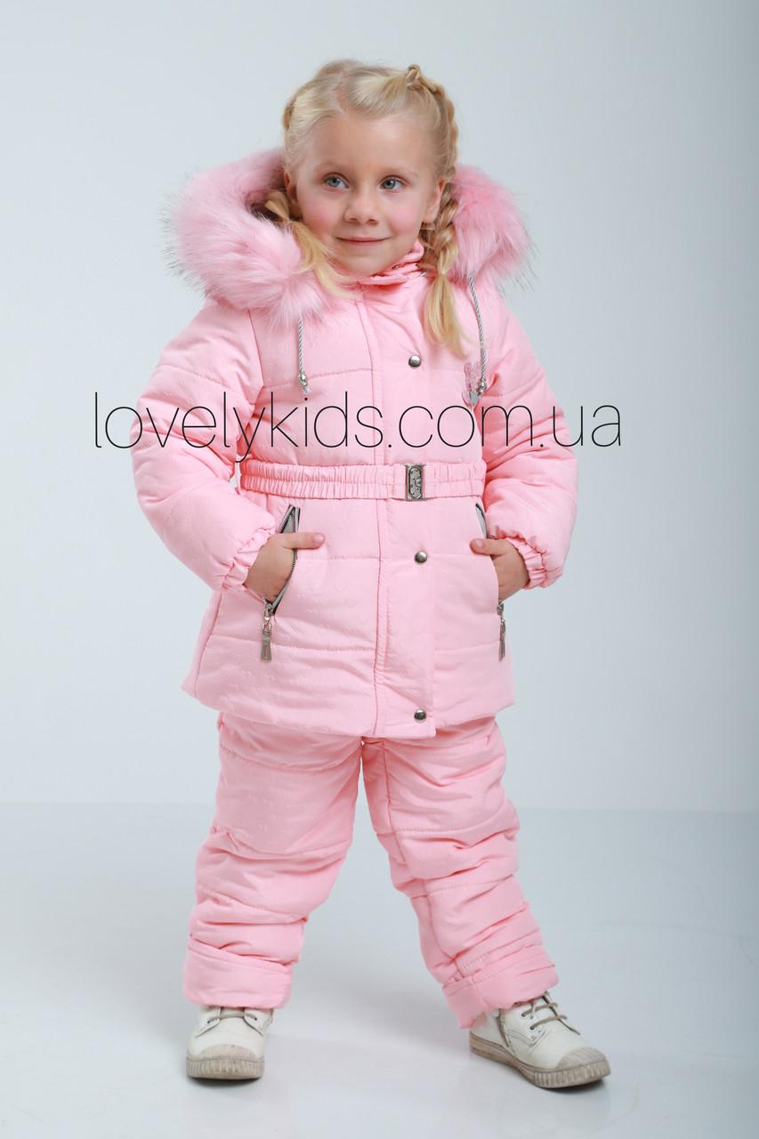 Зимний костюм для девочки 92р