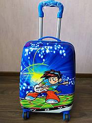 """Детский чемодан на 4 колесах для мальчика """"Мальчик с гитарой""""  45*31*21"""