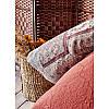 Набор постельное белье с покрывалом + плед Karaca Home - Maryam bordo 2020-1 бордовый евро, фото 2