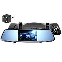 Видеорегистратор зеркало DVR X10, сенсорное на 2 камеры
