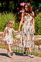 Платье детское с картами