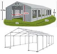 Шатер 6х12 ПВХ 560 г/метр  с мощным каркасом, палатка тент ангар торговый павильон