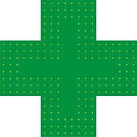 Светодиодный аптечный крест 500х500 №2 двухсторонний, фото 1