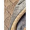 Набор постельное белье с покрывалом + плед Karaca Home - Zoya kahve 2020-1 кофе евро, фото 3