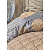 Набор постельное белье с покрывалом + плед Karaca Home - Zoya kahve 2020-1 кофе евро, фото 4