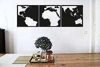 "Картина из дерева ""Map Of Contrast"""
