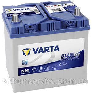 Аккумулятор автомобильный VARTA BLUE EFB Asia 65AH R+ 650A (N65)