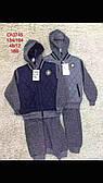 Трикотажный костюм - тройка утепленный для мальчиков S&D оптом, 134-164 рр.
