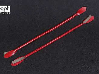 Ручки для сумок, кожа, цв. красный, р. 41/59*1,2 см