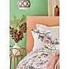 Набор постельное белье с покрывалом Karaca Home - Elsa somon 2020-1 лососевый евро, фото 2