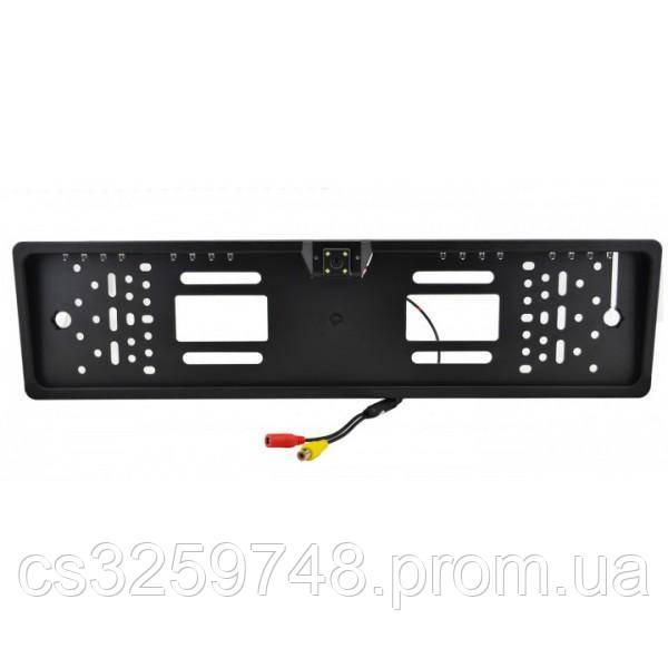 Держатель номеров UTM с LED подсветкой с встроенной камерой заднего вида Черный