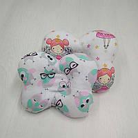 Ортопедическая подушка для новорожденных Тм Миля Совы 22 х 26 см