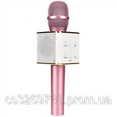 Беспроводной караоке микрофон UTM с динамиками в чехле Bluetooth USB Q7 Pink, фото 2