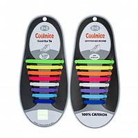 Силиконовые шнурки Coolnice Разноцветвые