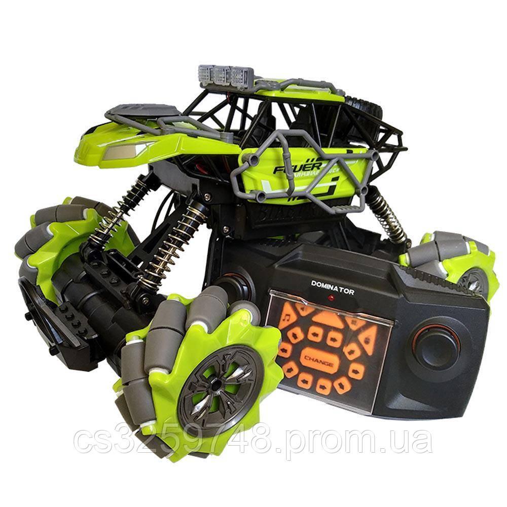 Трюковая машинка на радиоуправлении, вездеход Fever Buggy4WD 4x4 Зеленый