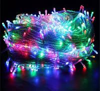 Гирлянда 200 LED 11,5м с прозрачным проводом (мультиколор)
