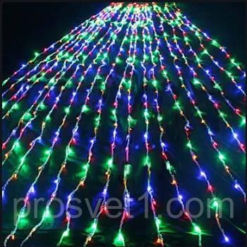 Гирлянда 500 LED 4м*2м Водопад с прозрачным проводом(мультиколор)