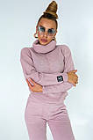 Костюм женский вязанный розовый, фото 3