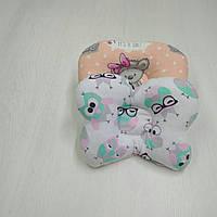 Ортопедическая подушка для новорожденных Тм Миля Совушки 22 х 26 см