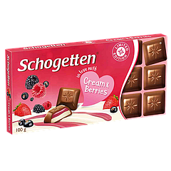 Шоколад Schogetten CREAM&BERRIES 100 г (1уп/15шт)