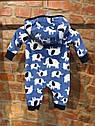 """Флисовый комбинезон с капюшоном """"Слоненок"""" Carter's для мальчика 3 мес/55-61 см, фото 4"""