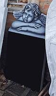 Памятник детский с ангелочком №214