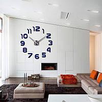 3-D Часы большие  настенные арабские цифры №1 синие до 80 см