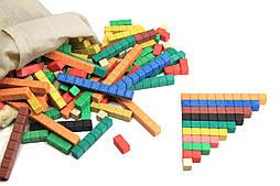 Рахункові палички Кюїзенера (126 шт), 10 кольорів, дерево