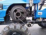 Мототрактор Титан Т-24 с фрезой и плугом BLUE (Full set) 24 л.с., фото 7
