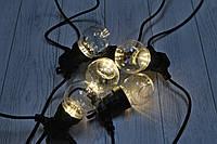 Уличная светодиодная гирлянда Прозрачные Шарики 10шт 10м 220V Желтый WATERPROOF BALL-10WW-4, фото 1