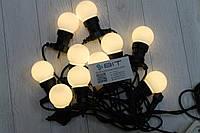 Уличная светодиодная гирлянда Белые Шарики 10шт 10м 220V Желтый WATERPROOF BALL-10WW-2