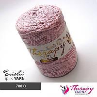 Трикотажная пряжа Therapy Yarn Suslu с люрексом Розовый