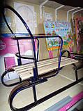 Санки металлические геркулес bebi высокая спинка с ручкой, толкателем киев, фото 7