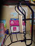 Санки металлические геркулес bebi высокая спинка с ручкой, толкателем киев, фото 6