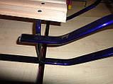 Санки металлические геркулес bebi высокая спинка с ручкой, толкателем киев, фото 9