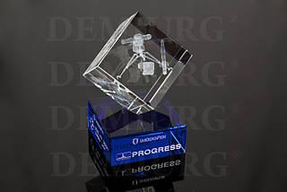 """Награда из стекла прозрачного и цветного """"PROGRESS"""""""