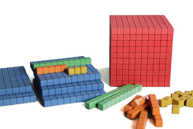 """Математичний куб, Набір """"Одиниці об'єму"""", дерево, 141 частини"""
